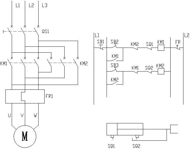 整体直式电液推杆电控原理图