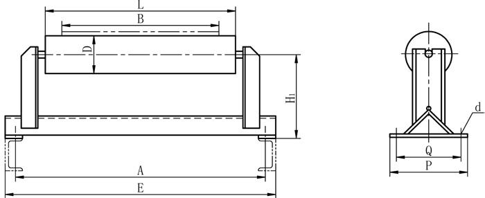 TDII带式输送机下纠偏图